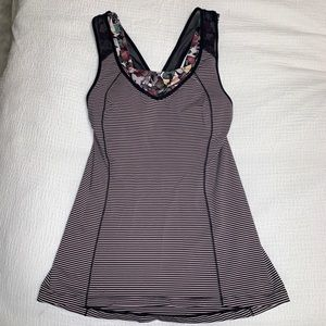 Lululemon tank with built in bra, size 6
